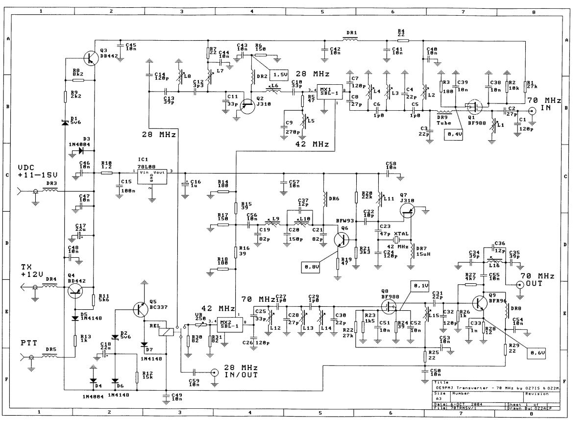 Oz2m 70 Mhz Transverter 70mhz Rf Fm Power Amplifier Documentation Etc